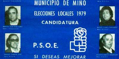 Candidaturas PSOE MIno
